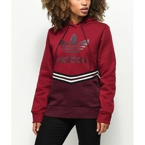 ADIDAS Collegiate Red Burgundy Hoodie Size Small